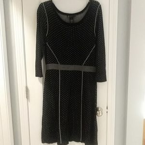 Lane Bryant black silver sweater dress 14/16